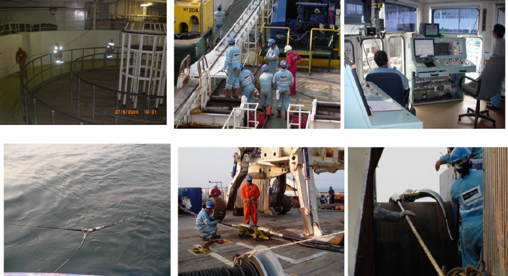 marine work - cable laying and trenching